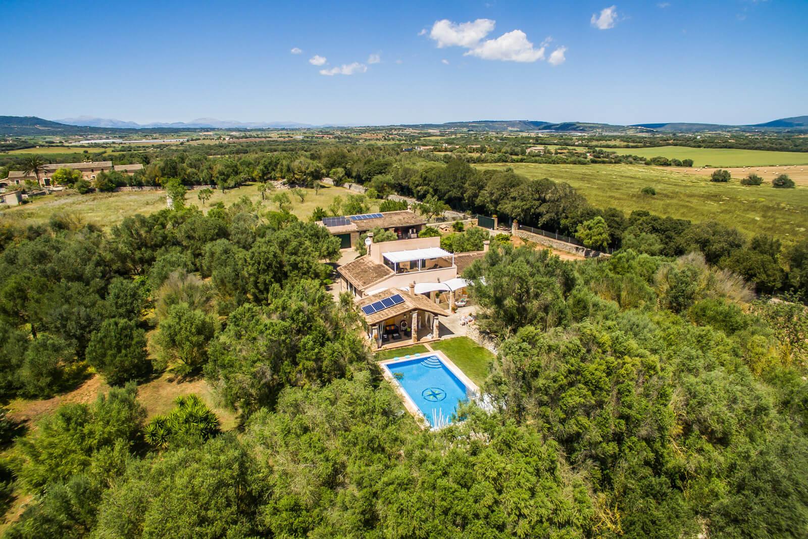 Finca Es Castellot - Ansicht aus der Luft