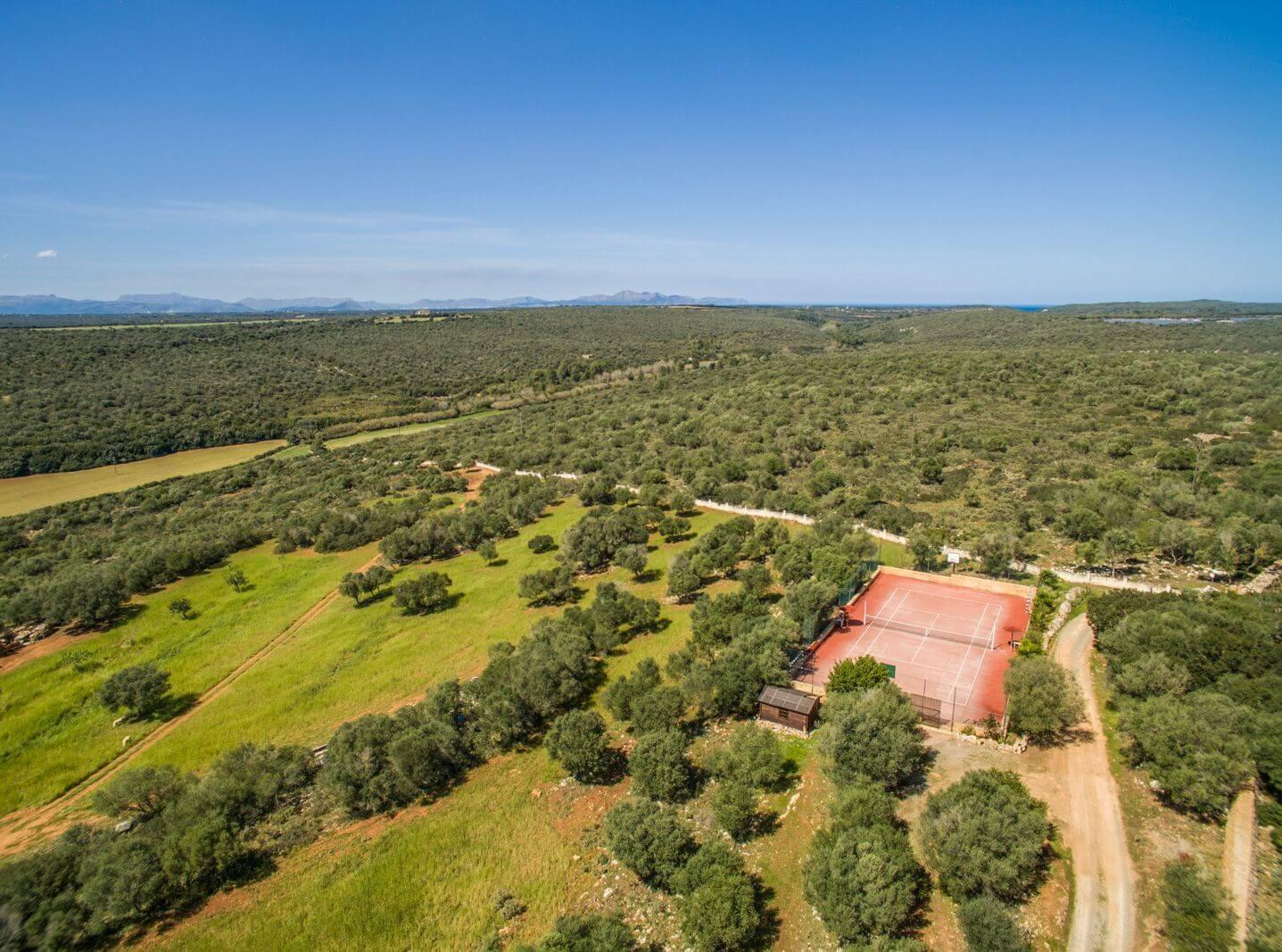Mallorca Finca Melito - Tennisplatz