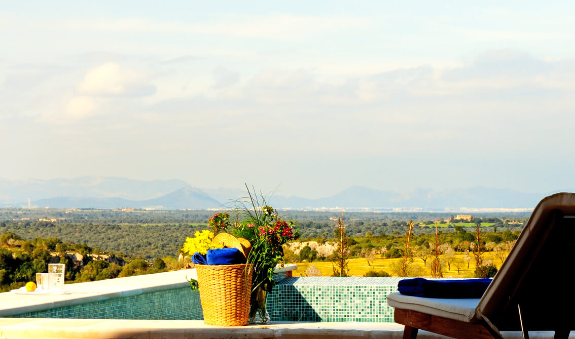 Finca Can Cabell Ausblick vom Pool