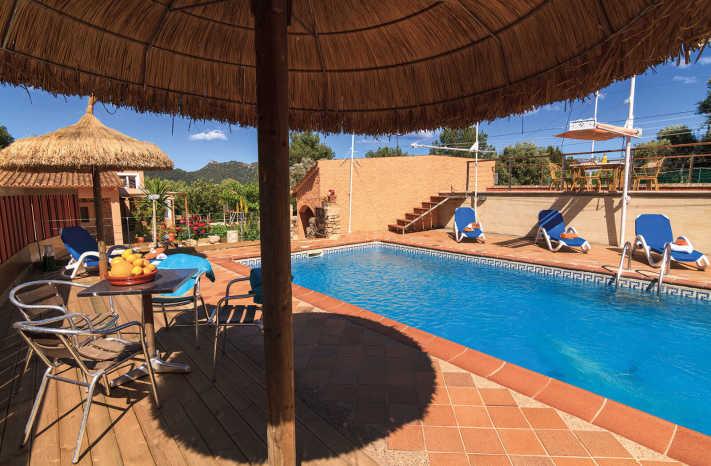 Finca Torrent Sa Plana Blick auf den Pool